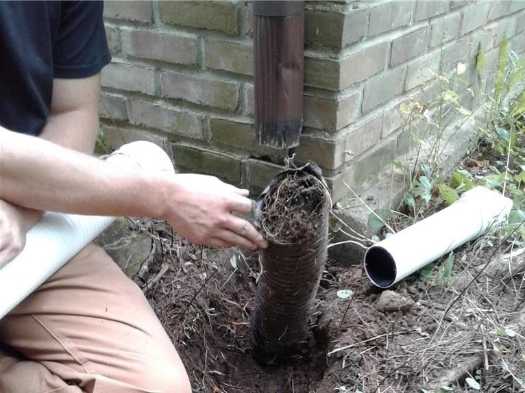fix clogged drainage