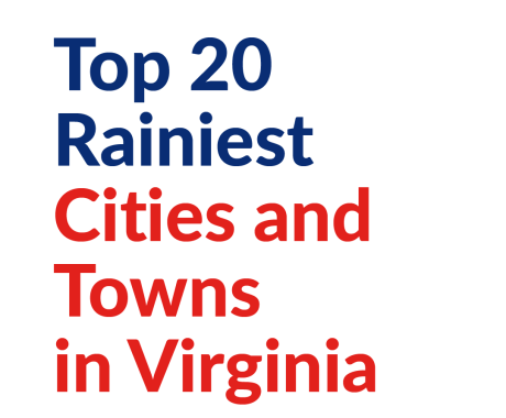 Top 20 Rainiest Cities and Towns in Virginia