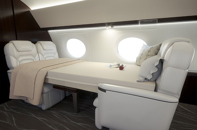 The JetBed For G650 Conference Group Jet Bed