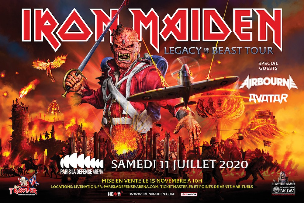 IRON MAIDEN À PARIS LA DEFENSE ARENA – Legacy Of The Beast Tour