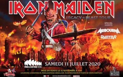 IRON MAIDEN À PARIS LA DEFENSE ARENA – Legacy Of The Beast Tour