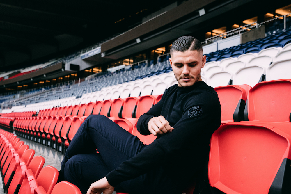 COLLECTION BOSS X PSG avec MAURO ICARDI
