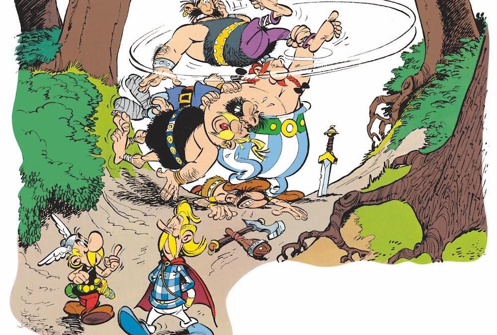 Le Menhir d'or, une aventure illustrée d'Astérix, écrite par René Goscinny et dessinée par Albert Uderzo