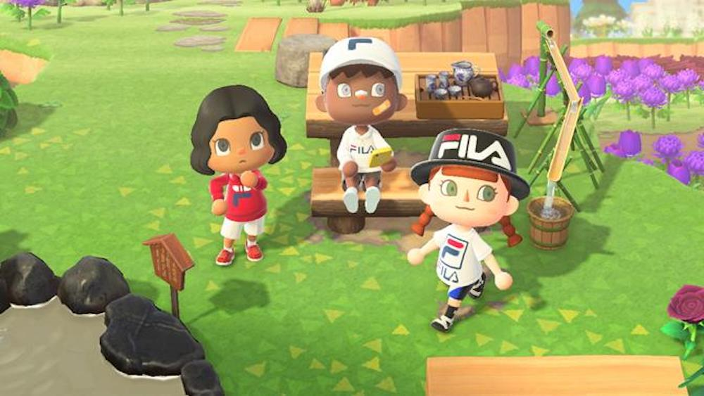 COLLECTION CAPSULE FILA x NOOK STREET MARKET SUR ANIMAL CROSSING : NEW HORIZONS
