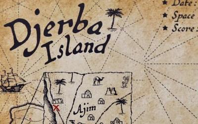 Vente exclusive en édition limitée de la carte d'Invader à Djerba (Galerie Itinerrance)
