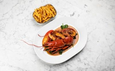 Le Homard Frites, plat signature du Chef Patrick Charvet à la Brasserie du Lutetia