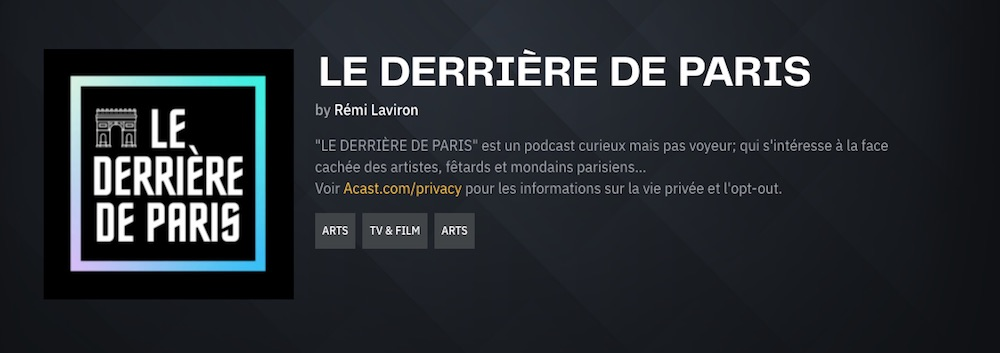 Le derrière de Paris – Podcast #1 (Hannibal Volkoff, photographe et galeriste)