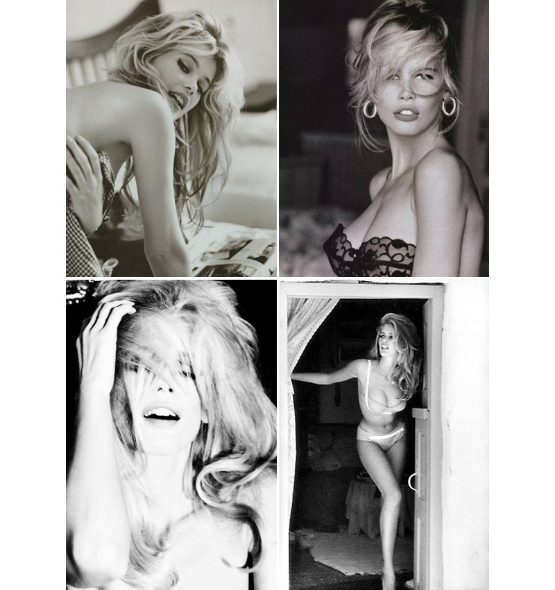claudia schiffer, boudoir photography inspiration