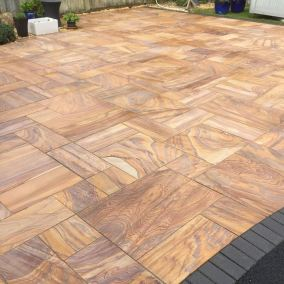 Indian stone patio after 6