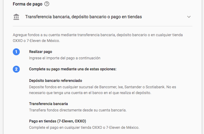 Pagar adwords en Oxxo.