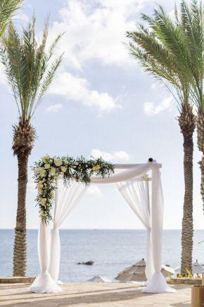 arc de cérémonie drapé de mariage cabo