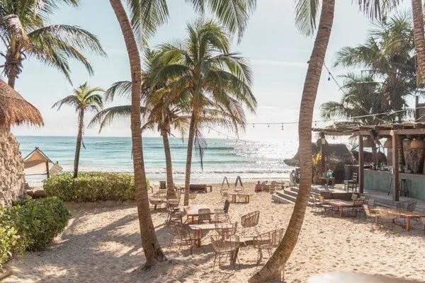 Beach view from Ahu Tulum Beach Club