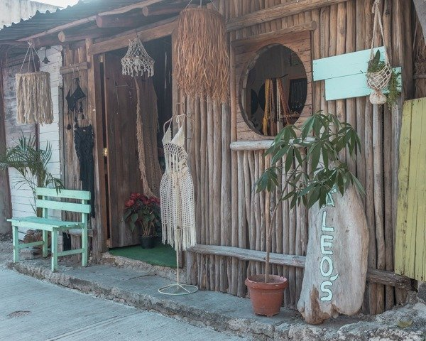 Bohemian boutique in downtown Tulum