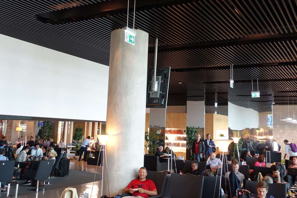 Interior of the airport lounge