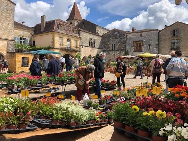 Monpazier Flower Market, Dordogne France