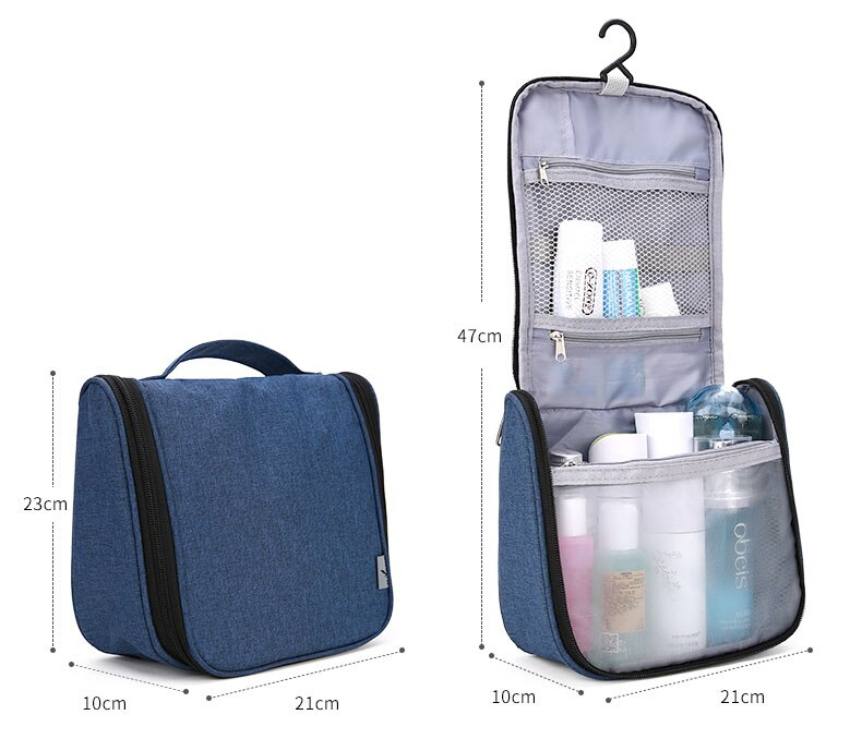 Hanging Travel Toiletries and Cosmetics Bag