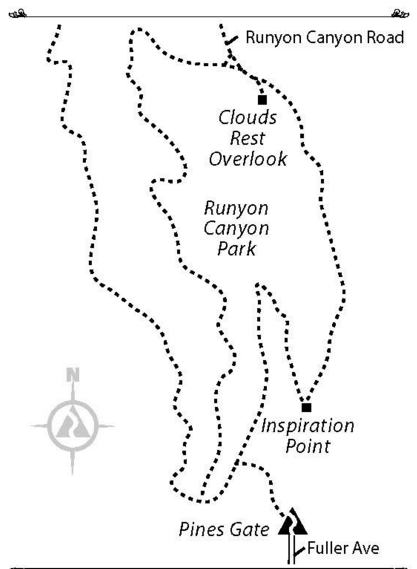 Runyon Canyon Map