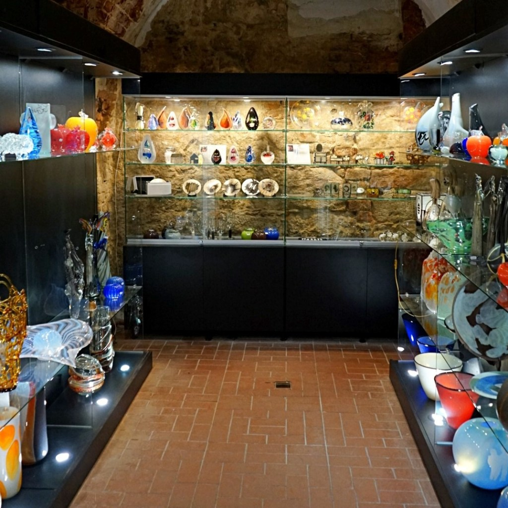 The store at the Lviv museum of glass