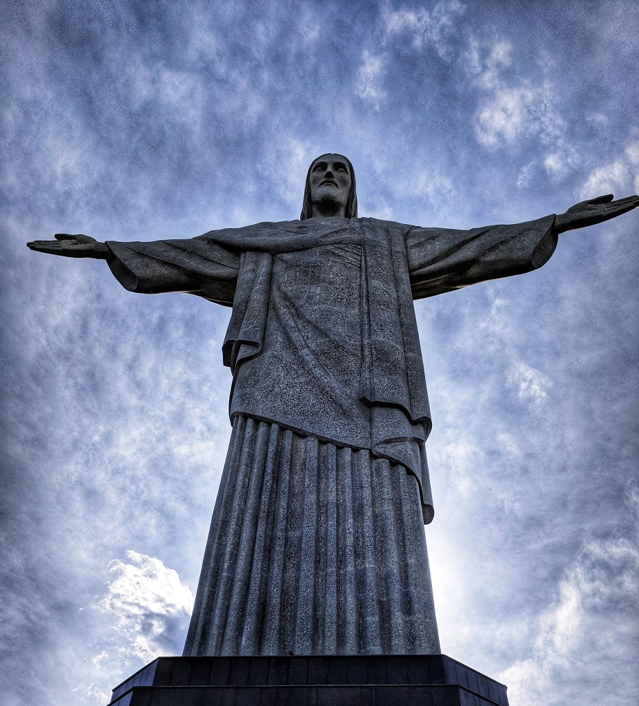 visiting Christ the redeemer from Copacabana