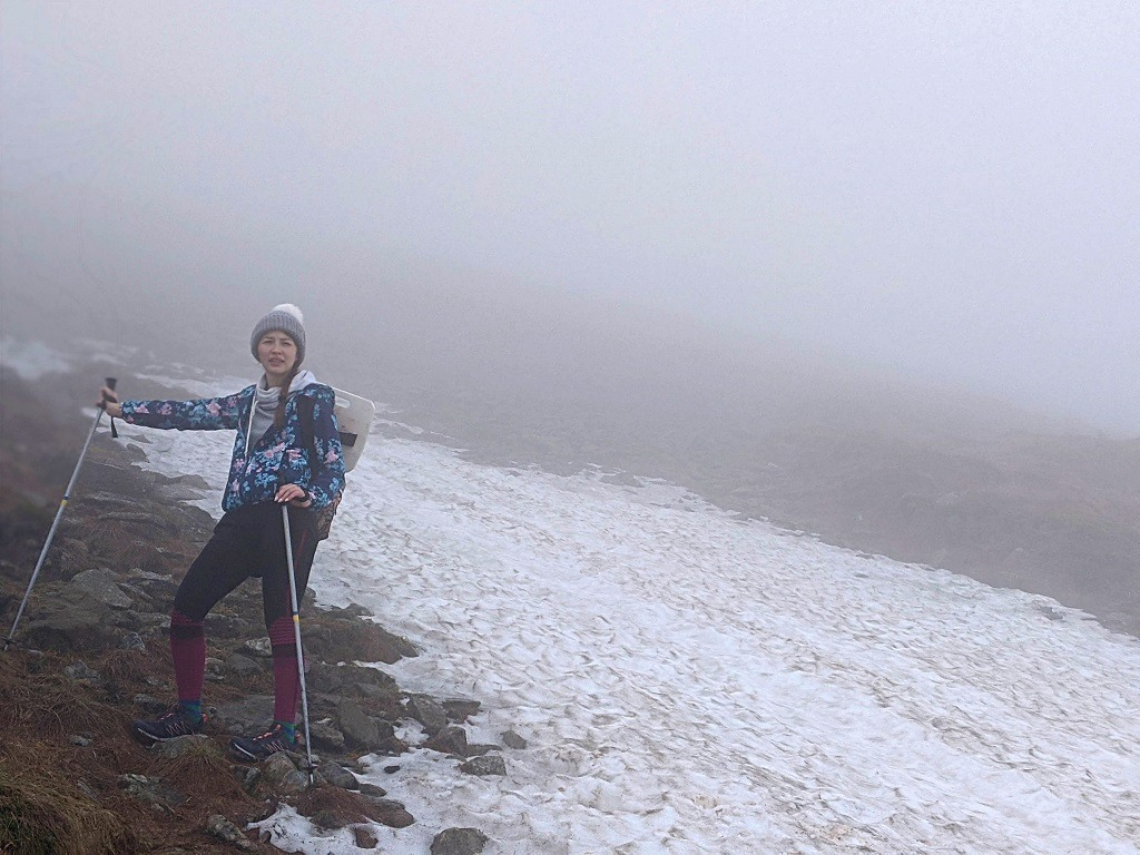 Alona at the top of Hoverla