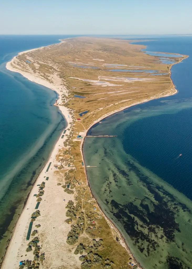 Dzharylhach island, Black sea