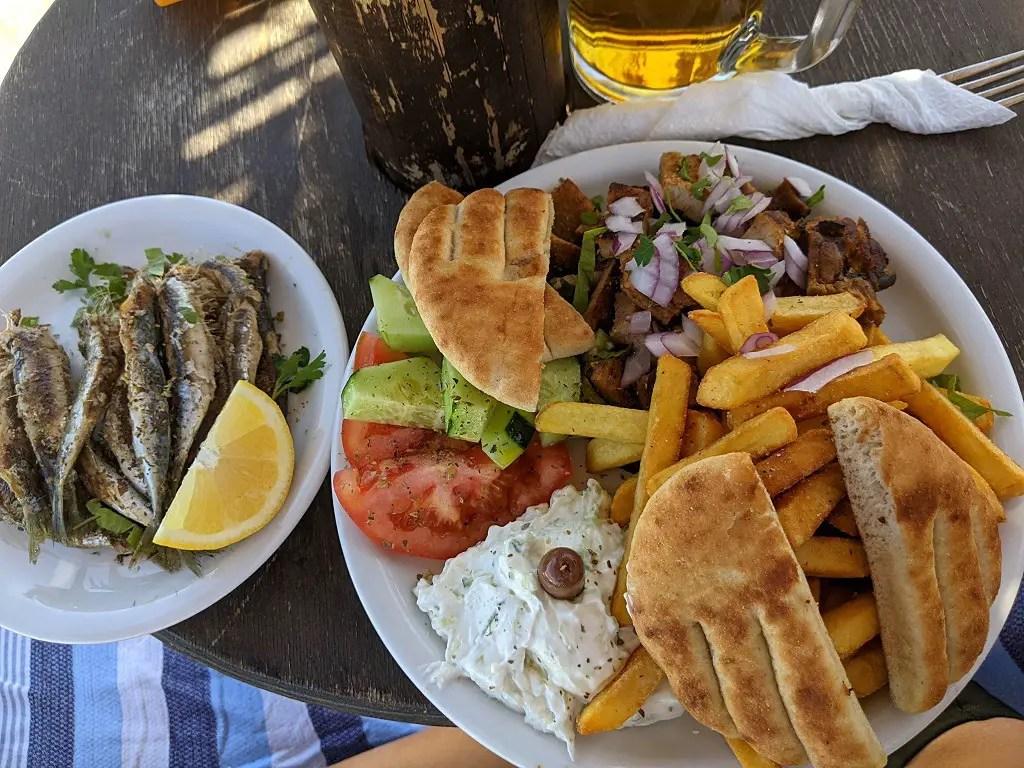 Zakynthos town: Beach food