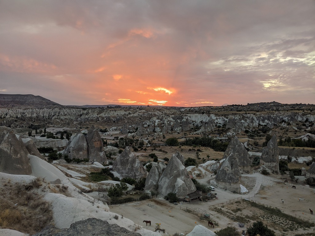 Picture from the Viewpoints During The Sunrise or Sunset, Goreme, Cappadocia