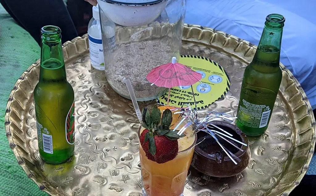 Drinks at Farsha cafe