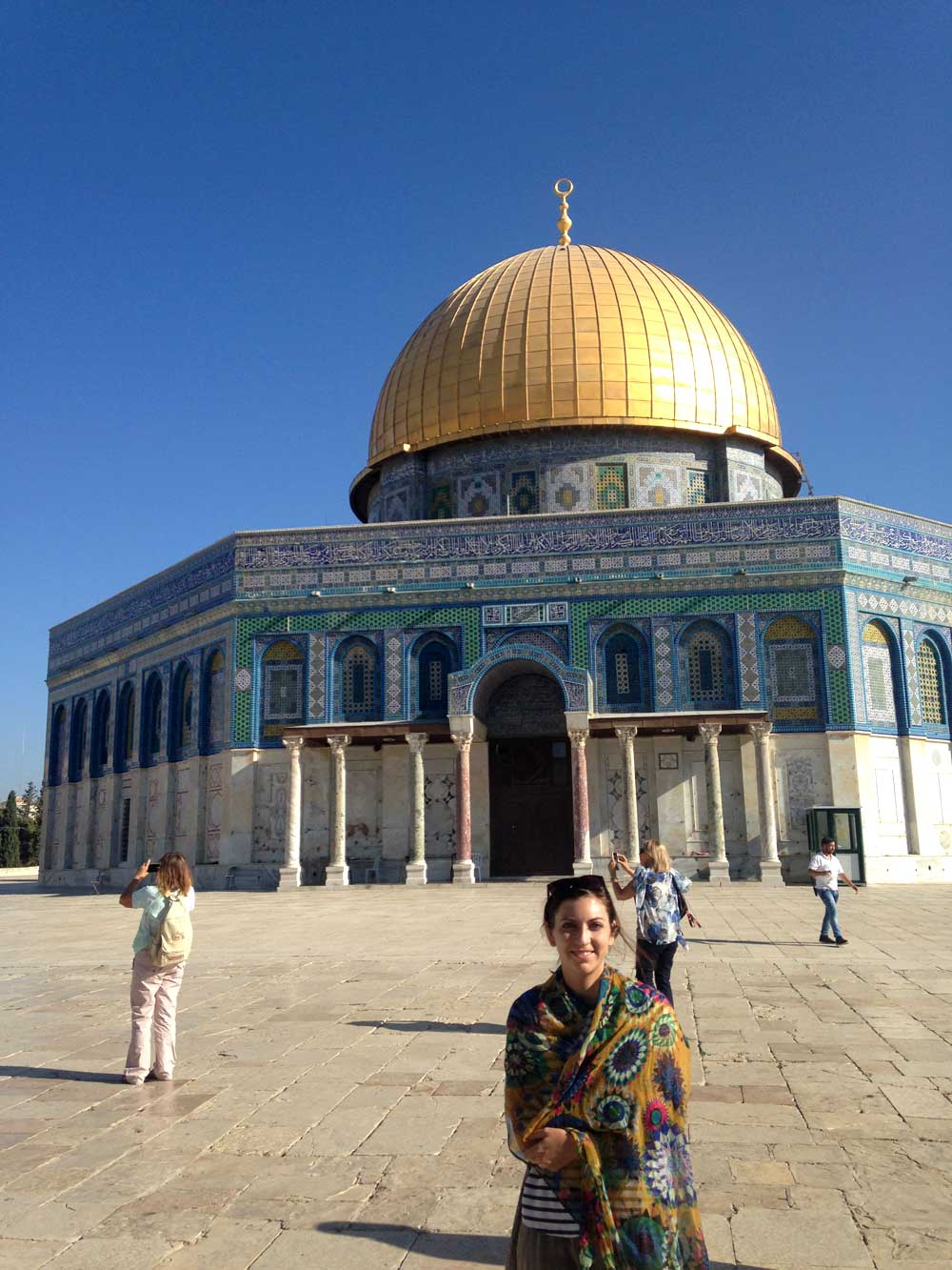 Caitlin at Dome of the Rock