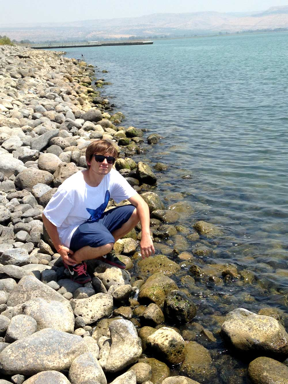 Touching the Sea of Galilee