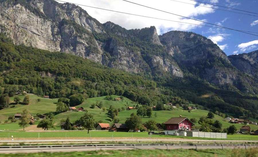 Switzerland train.