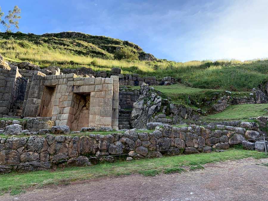 The Inca baths