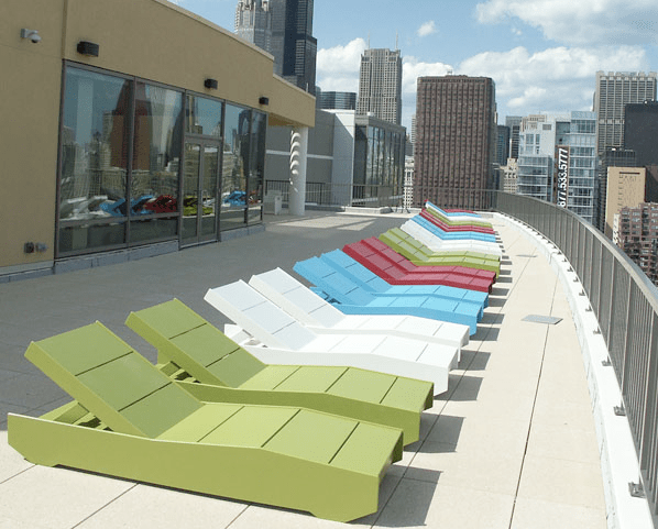 new green loll outdoor furniture