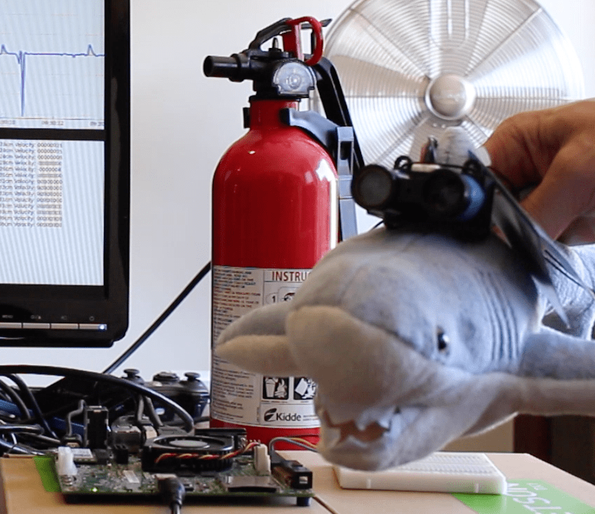 Bruce the Shark and Mr. Fire Extinguisher.