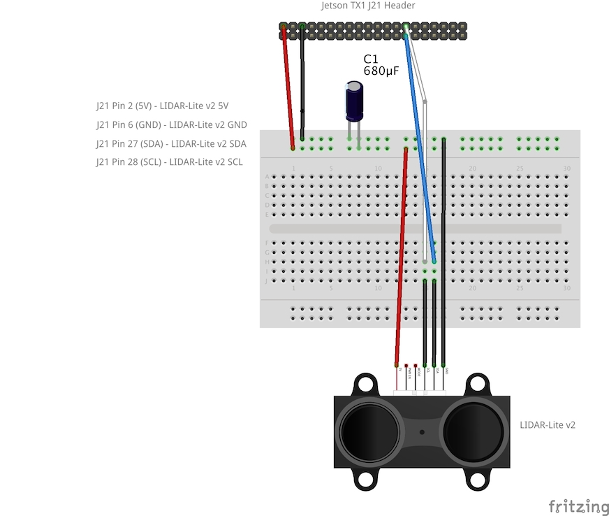 GPIO/I2C on Jetson TX1 - LIDAR-Lite v2 Installation