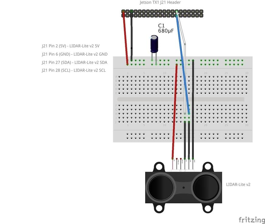 GPIO/I2C on Jetson TX1 - LIDAR-Lite v2 Installation - JetsonHacks