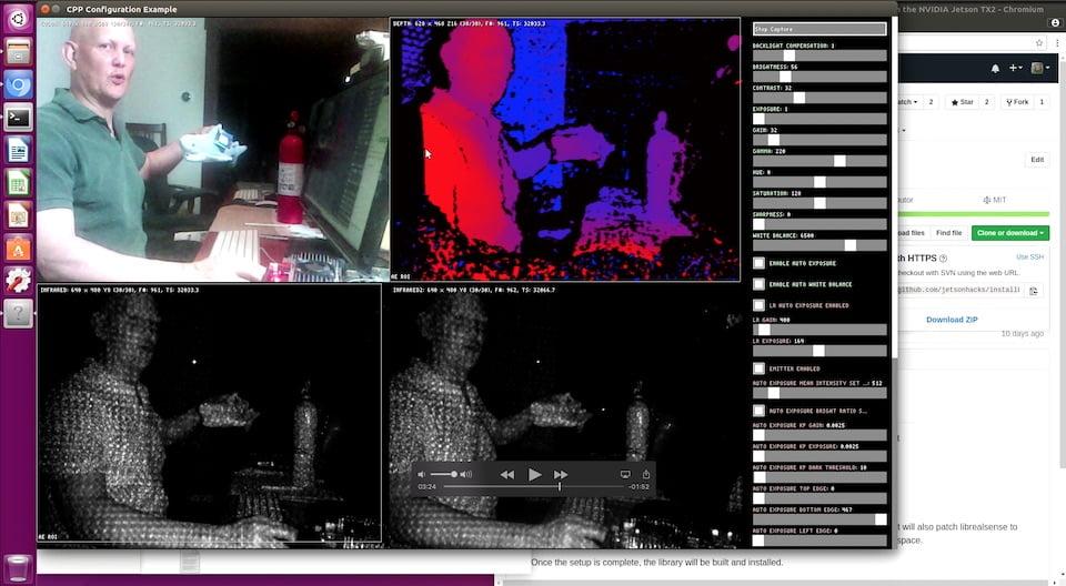 Intel RealSense Camera librealsense – NVIDIA Jetson TX Dev