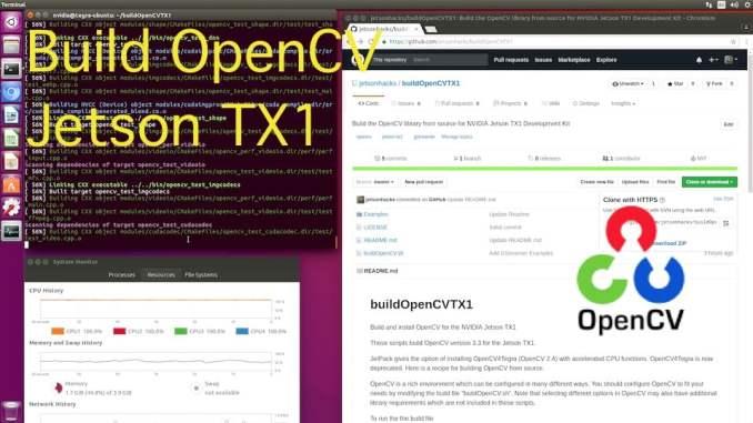 OpenCV Jetson TX1