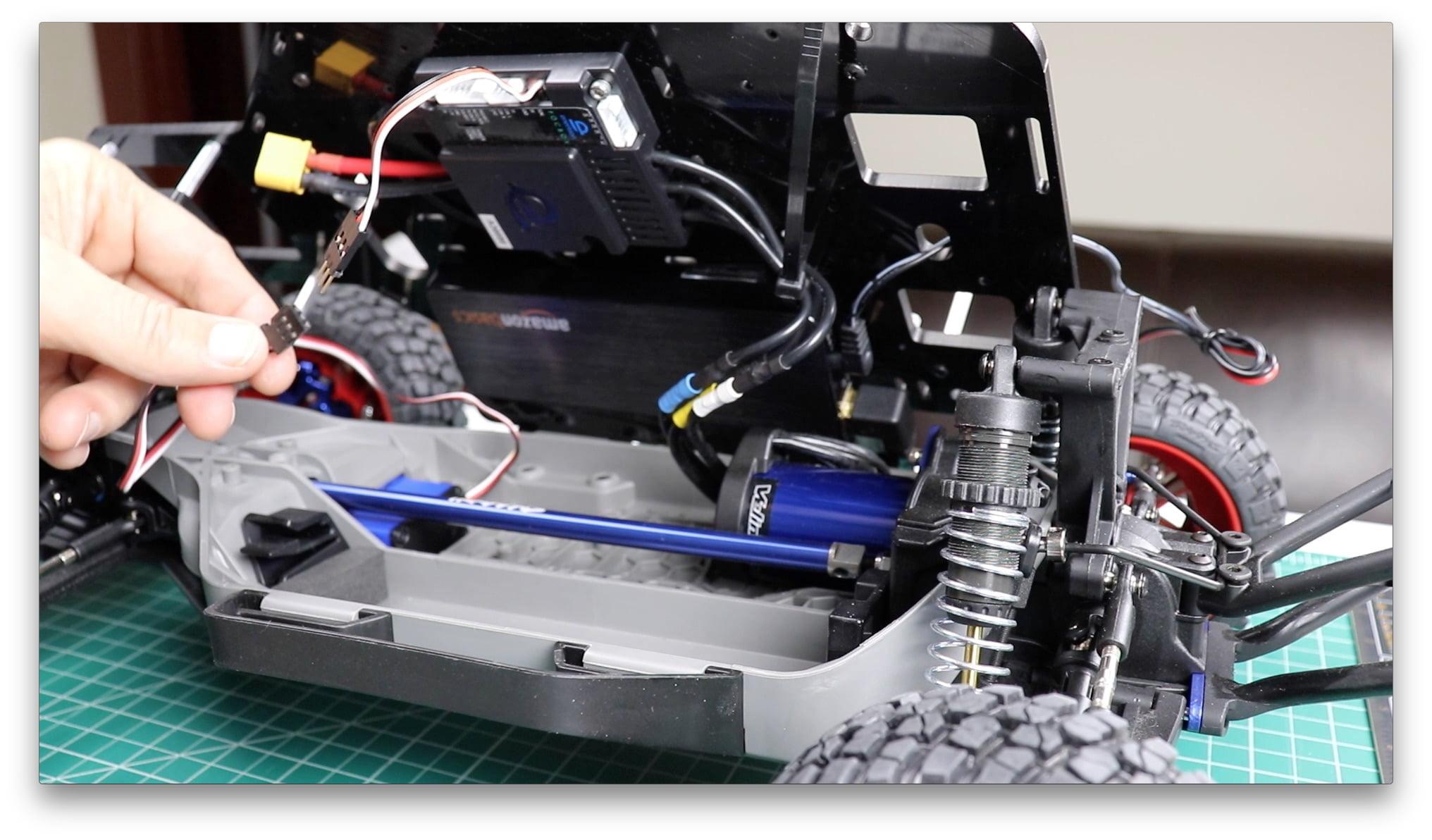 Attach Steering Servo Wires