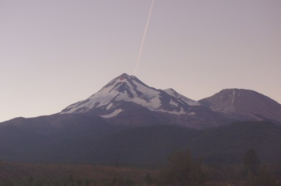 Mt. Shasta from the Amtrak Coast Starlight