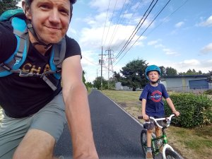 Out biking with my boy