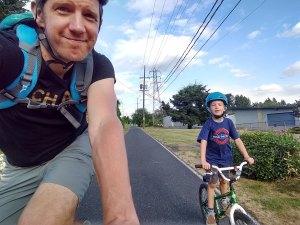 Out biking with my boy