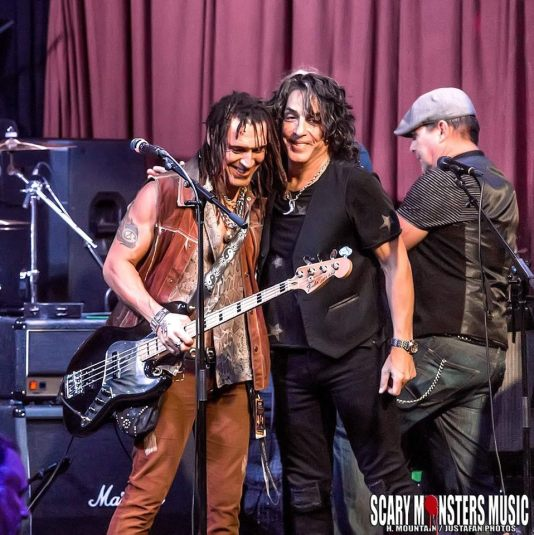 With Paul Stanley post performance, Rock and Roll Fantasy Camp.