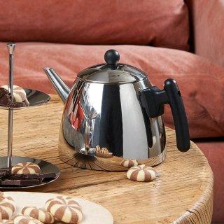 Die Duet Teekanne aus glänzendem Edelstahl