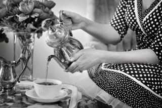 Die Teekanne aus Edelstahl