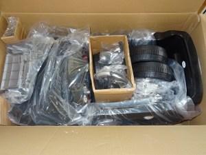 Verpackung und Lieferung des Elektroautos Mercedes ML 350 im Test