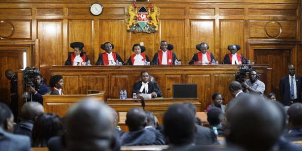 Les membres de la Cour suprême du Kenya, le 1erseptembre 2017.