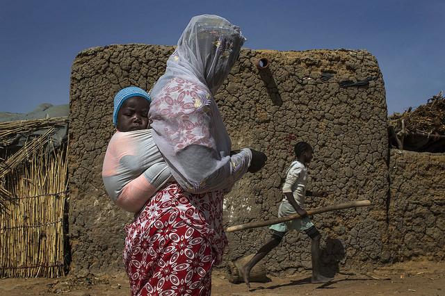 Des déplacés internes dans la région de Mopti, en 2015.