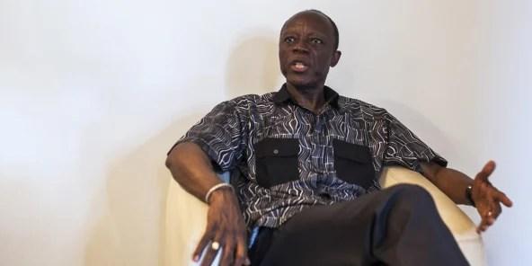 Jean-Marie Michel Mokoko à son domicile de Brazzaville, en mars 2016.