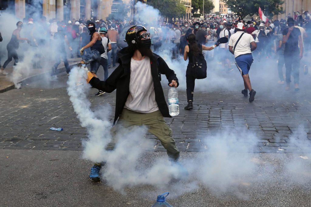 Manifestations à Beyrouth le 10 août 2020.